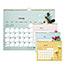 "Blueline® Romantic Monthly Wall Calendar, 8"" x 11"", Classic Floral Design, 2021 Thumbnail 2"