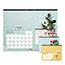 """Blueline® Romantic Monthly Desk Pad Calendar, 22"""" x 17"""", Classic Floral Design, 2021 Thumbnail 1"""