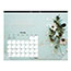 """Blueline® Romantic Monthly Desk Pad Calendar, 22"""" x 17"""", Classic Floral Design, 2021 Thumbnail 5"""