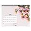 """Blueline® Romantic Monthly Desk Pad Calendar, 22"""" x 17"""", Classic Floral Design, 2021 Thumbnail 4"""