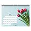 """Blueline® Romantic Monthly Desk Pad Calendar, 22"""" x 17"""", Classic Floral Design, 2021 Thumbnail 3"""