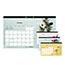 """Blueline® Romantic Monthly Desk Pad Calendar, 17 3/4"""" x 10 7/8"""", Classic Floral Design, 2021 Thumbnail 1"""