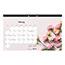 """Blueline® Romantic Monthly Desk Pad Calendar, 17 3/4"""" x 10 7/8"""", Classic Floral Design, 2021 Thumbnail 4"""