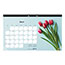 """Blueline® Romantic Monthly Desk Pad Calendar, 17 3/4"""" x 10 7/8"""", Classic Floral Design, 2021 Thumbnail 3"""