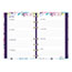 """Blueline® MiracleBind™ Passion, Weekly/Monthly Planner, 8"""" x 5"""", Delicate Floral Design, 2021 Thumbnail 3"""