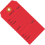 "W.B. Mason Co. Repair Tags, Consecutively Numbered, 4 3/4"" x 2 3/8"", Red, 1000/CS Thumbnail 1"