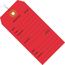 """W.B. Mason Co. Repair Tags, Consecutively Numbered, Pre-Wired, 6 1/4"""" x 3 1/8"""", Red, 1000 /CS Thumbnail 1"""