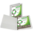 """Samsill® Earth's Choice Biobased 3 Ring View Binder, 1"""" Round Ring, Customizable Clear View Cover, White Thumbnail 2"""