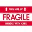 "Tape Logic® Labels, Fragile - This Side Up - HWC"", 3"" x 5"", Red/White, 500/RL Thumbnail 1"
