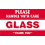 """Tape Logic® Labels, Glass - Please Handle With Care"""", 3"""" x 5"""", Red/White, 500/RL Thumbnail 1"""