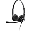 Sennheiser SC 260 Headset - Stereo - Wired - 180 Ohm - 150 Hz - 6.80 kHz - Over-the-head - Binaural - Semi-open - 3.28 ft Cable - Noise Cancelling Microphone - Black, Silver Thumbnail 1