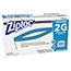 Ziploc® Commercial Resealable Freezer Bag, Zipper, 2gal, 13 x 15 1/2, Clear, 100/CT Thumbnail 2