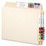 Smead® Alpha-Z Color-Coded Second Letter Labels, Letter U, Dark Brown, 100/Pack Thumbnail 2