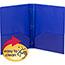 Smead® Poly Two-Pocket Folder w/Fasteners, 11 x 8 1/2, Blue, 25/Box Thumbnail 2