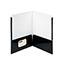 "Smead® High-Gloss Two-Pocket Folders, Letter, 8 1/2"" x 11"" Sheet Size, 2 Pockets, Black, 25/BX Thumbnail 2"