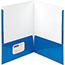"Smead® High-Gloss Two-Pocket Folders, 8 1/2"" x 11"" Sheet Size, Blue, 25/BX Thumbnail 2"