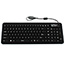 Seal Shield™ SEAL Glow 2 Keyboard - Cable Connectivity - USB Interface - 106 KeyTouchPad - Mac, PC - Industrial Silicon Rubber Keyswitch - Black Thumbnail 1