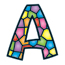 TREND® Ready Letters® Stained Glass Playful Letter Combo Pack Thumbnail 2