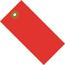 "W.B. Mason Co. Tyvek Shipping Tags, 5 1/4"" x 2 5/8"", Red, 100/CS Thumbnail 1"