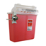 Unimed-Midwest In-Room Sharps Container, 5 Qt, Transparent Red with Sharpstar Lid Thumbnail 1