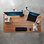 "Vari® Electric Standing Desk, 60"" x 30"", Butcher Block Thumbnail 3"
