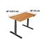"Vari® Electric Standing Desk, 60"" x 30"", Butcher Block Thumbnail 4"
