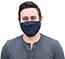 W.B. Mason Co. Multi-Layered, Cloth Face Masks, Navy, 5/PK Thumbnail 1
