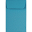 """JAM Paper #1 Coin Business Colored Envelopes, 2 1/4"""" x 3 1/2"""", Blue Recycled, 500/PK Thumbnail 1"""