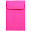 """JAM Paper #1 Coin Business Colored Envelopes, 2 1/4"""" x 3 1/2"""", Ultra Fuchsia Pink, 500/PK Thumbnail 1"""