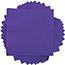 """JAM Paper Small Beverage Napkins, 5"""" x 5"""", Purple, 250/PK Thumbnail 1"""