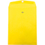 """JAM Paper® Open End Catalog Colored Envelopes with Clasp Closure, 10"""" x 13"""", Yellow Recycled, 100/BX Thumbnail 1"""