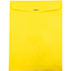 """JAM Paper® Open End Catalog Colored Envelopes with Clasp Closure, 10"""" x 13"""", Yellow Recycled, 100/BX Thumbnail 2"""