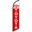 W.B. Mason Auto Supplies Swooper Banner, Toyota, White with Red Letters Thumbnail 1