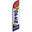 Auto Supplies Swooper Banner, Open, Smiley Faces Thumbnail 1