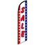 W.B. Mason Auto Supplies Swooper Banner, Sale, Patriotic Thumbnail 1