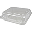 """Durable Packaging Duralock Container, Hinged Lid, Plastic, Clear, 8"""" x 8"""" x 3"""", 250/CT Thumbnail 1"""