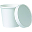 Kari-Out Food Container Combo, White with Vented Paper Lid, 16 oz., 250/CS Thumbnail 1