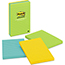 Post-it® Notes Original Pads in Jaipur Colors, Lined, 4 x 6, 100-Sheet, 3/Pack Thumbnail 1