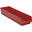 "Quantum® Storage Systems Economy Shelf Bins, 23-5/8"" x 6-5/8"" x 4"", Red, 8/CT Thumbnail 1"