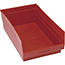 """Quantum® Storage Systems Store-More Bins, 17-7/8"""" x 11-1/8"""" x 6"""", Red, 8/CT Thumbnail 1"""