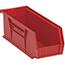 "Quantum® Storage Systems Economy Shelf Bins, 10-7/8"", x 4-1/8"", x 4"", Red, 12/CT Thumbnail 1"