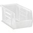 "Quantum® Storage Systems Economy Shelf Bins, 10-7/8"", x 5-1/2"" x 5"", Clear, 12/CT Thumbnail 1"