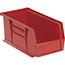 "Quantum® Storage Systems Economy Shelf Bins, 10-7/8"", x 5-1/2"" x 5"", Red, 12/CT Thumbnail 1"