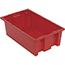 """Quantum® Storage Systems Genuine Stack & Nest Totes, 18"""" x 11"""" x 6"""", Red Thumbnail 1"""
