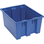 """Quantum® Storage Systems Genuine Stack & Nest Totes, 19-1/2"""" x 15-1/2"""" x 10"""", Blue Thumbnail 1"""