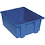 """Quantum® Storage Systems Genuine Stack & Nest Totes, 23-1/2"""" x 19-1/2"""" x 10"""", Blue, 3/CT Thumbnail 1"""