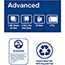"Tork® Advanced High Capacity Bath Tissue, 2-Ply, 3.94"" W x 3.75"" L, White, 1000 Sheets/Roll, 36 Rolls/Case Thumbnail 2"
