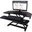 Victor® High Rise Adjustable Corner Standing Desk, 36 x 20 x 20, Black Thumbnail 1